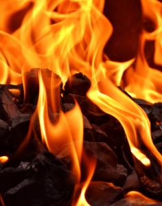 carbon al fuego parrillada